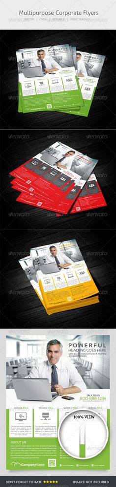 Multipurpose Flyer — Photoshop PSD #corporate #campaign • Available here → https://graphicriver.net/item/multipurpose-flyer/5404682?ref=pxcr