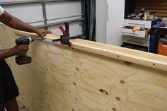 DIY Platform Bed With Floating Night Stands: 7 Steps (with Pictures) Bed Frame Plans, Diy Bed Frame, Wooden Pallet Furniture, Diy Furniture, Pallet Bed Frames, Pallet Beds, Design Studio Office, Floating Bed, Houses