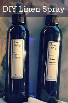 Diy Linen Spray : mix essential oil, witch hazel and distilled water