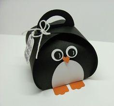 Curvy Keepsake Box Penquin 001 by Lynn Starzl