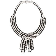 Shourouk Women Legend Black Necklace ($650) ❤ liked on Polyvore featuring jewelry, necklaces, shourouk necklace, black swarovski crystal necklace, shourouk, black necklace and black jet jewelry