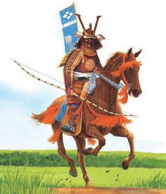 A samurai warrior on horseback