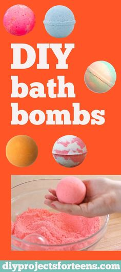 DIY Bath Bombs Recipe and Tutorial - Fun DYI Beauty and Bath Gift - Cool DIY Projects and Crafts for Teens