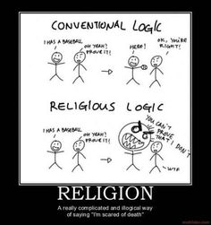 "Religion: A really complicated way of saying ""I'm scared to death"""