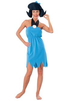 Betty Rubble Adult Costume - Wilma and Betty Flintstone Costumes
