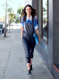 Fashion Director Leila Yavari wearing Michael Kors Tie-Dye Blouse. February 2014