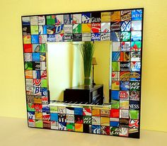 14. Recycled Soda and Beer Can Mirror, $35 | The 32 Best Mirrors That Are Anything But Square