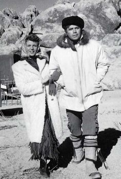 Rita Hayworth & Glenn Ford on the set of THE LOVES OF CARMEN (1948)
