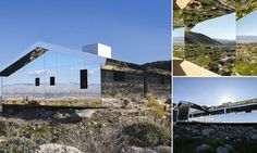 This is the amazing house in California's Coachella Valley which has been created entirely out of mirrors that depending on the light can disappear completely from view.