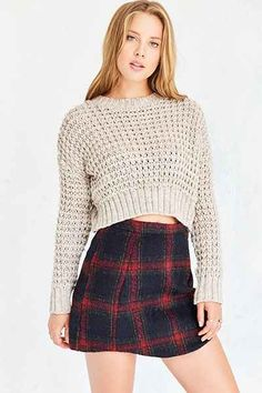 Cooperative Elton Plaid Mini Skirt - Urban Outfitters