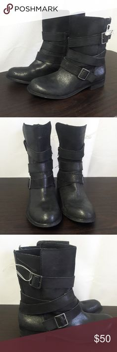"""Gianni Bini black leather boots Black Leather upper 8"""", no box Gianni Bini Shoes Ankle Boots & Booties"""