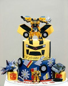 Making an awesome Bumblebee Transformer cake for my grandson David while he's here on vacation. Hope I nail it!