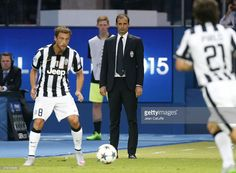 Head coach of Juventus Turin Massimiliano Allegri looks on during the UEFA Champions League Final between Juventus Turin and FC Barcelona at Olympiastadion on June 6, 2015 in Berlin, Germany.