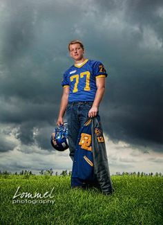 For our future Linebacker..  yes, we may have 18 years for this pic but its an idea!!  Football Sr Portrait