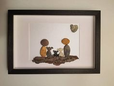 Customach order for Nicole family pebble art with three dogs
