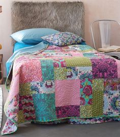 queen charming quilt by tula pink