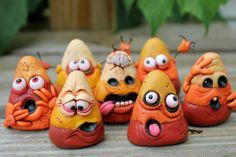 Mini Zombie Candy Corn by mirandascritters