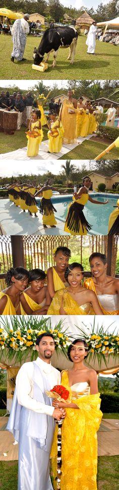 Rwandan Indian Wedding- beautiful colours