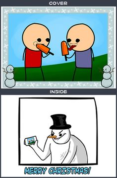 """Cyanide & Happiness """"Popsicle"""" Greeting Card"""