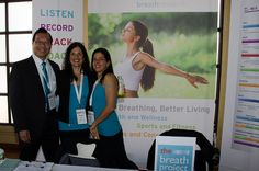 The BreathResearch team Gary Yee, Nirinjan Yee and Cheryl Toth at Body 2.0. Photo by Cheryl Hornbaker.