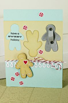 Gingerbread Cookie Cutter Card by Erin Lincoln for Papertrey Ink (September 2012)