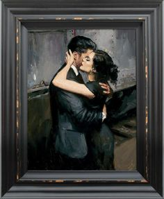 The Train Station VII(Figurative) by Fabian Perez - Paintings & fine art pictures available on discounted prices Fabian Perez, Art Deco Paintings, Arte Pop, Couple Art, Fine Art Gallery, Love Art, Art Pictures, New Art, Painting & Drawing