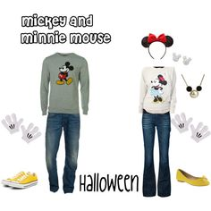 mickey and minnie mouse couples halloween costume - Polyvore