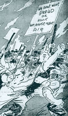 Illustration from the St. Louis Republic newspaper depicting a march during the 1877 St. Louis General Strike. The accompanying article describes the strikers as greedy and lawless. Today, we can see the strike in the larger context of the fight for the 8-hour workday and an end to child labor. Under the loose leadership of the Workingman's Party, the 1877 St. Louis General Strike was the nation's first general strike. Missouri History Museum http://historyhappenshere.org/archives/5312#.