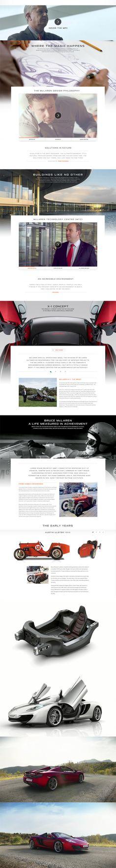 McLaren Automotive Website on Behance