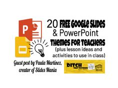 20 free Google Slides and PowerPoint themes for teachers - Ditch That Textbook