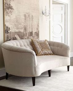 Anastacia Pearl Sofa by Old Hickory Tannery at Neiman Marcus.