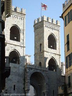 "Genova , province of genoa , Liguria region Italy - ""Porta Soprana"" vista dall'interno (view from inside)"