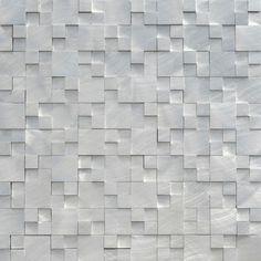 Mineral Tiles - Aluminum Mosaic Tile 3D Raised Pattern, $28.00 (http://www.mineraltiles.com/aluminum-mosaic-tile-3d-raised-pattern/)
