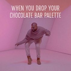 We understand the realness. #toofaced #chocolatebarpalette #hotlinebling