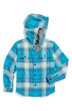 Quiksilver 'Spray Face' Hooded Flannel Shirt (Little Boys) available at #Nordstrom