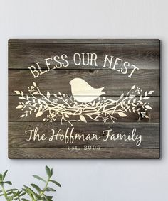 Look at this #zulilyfind! 'Bless Our Nest' Personalized Wrapped Canvas #zulilyfinds