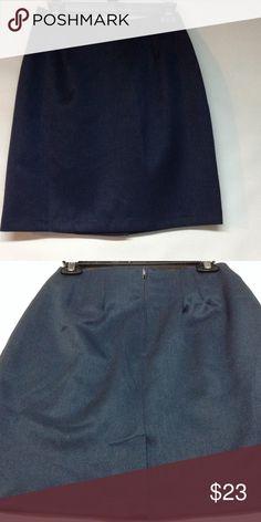Dark blue back zip skirt Dark blue skirt - back zip - laid flat measures 18 inches in length - waist laid flat measures 13 inches across Skirts Midi