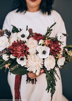 Winter Bridal Bouquets, Winter Bouquet, Winter Wedding Flowers, Fall Bouquets, Bridal Flowers, Fall Flowers, Flower Bouquet Wedding, November Wedding Flowers, Flowers For Weddings