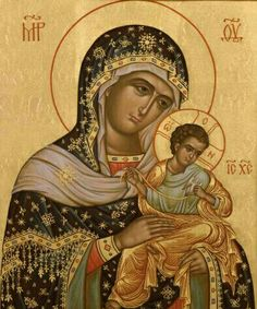Virgin mary Religious Images, Religious Icons, Religious Art, Russian Icons, Religious Paintings, Byzantine Icons, Madonna And Child, Art Icon, Orthodox Icons