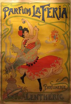 Vintage French Posters | ... Vintage French Poster Parfum La Feria Fine Art Prints and Posters for