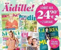 Äitienpäivä 2016 lehtitarjoukset - hyvä lahjaidea lehti tarjous ja tilaajalahja. Tilaa nyt!