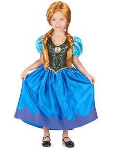 Déguisement Anna Frozen™ fille : Ce déguisement de Anna Frozen™ pour fille est sous licence officielle Disney™. Il se compose d'une robe (chaussures non incluses). La robe satinée est noire au niveau du...