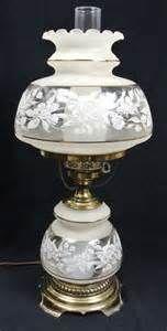 Vintage Hurricane Lamp 1978 Quoizel Electric Gwtw Table