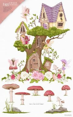 Angel Clipart, Fairy Clipart, Flower Clipart, Woodland Illustration, Graphic Illustration, Illustrations, Drawing Clipart, Woodland Fairy, Pretty Little