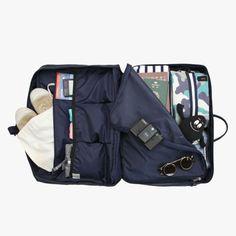 A sleek and unassuming overnight bag.