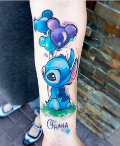 Stunning Watercolor Tattoo Ideas for Women Disney Tattoo – Fashion Tattoos Trendy Tattoos, Small Tattoos, Body Art Tattoos, Sleeve Tattoos, Key Tattoos, Tatoos, Stitch Et Angel, Lilo And Stitch Tattoo, Disney Tattoos Stitch
