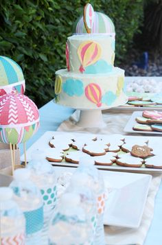 Up, Up & Away Hot Air Balloon Baby Shower | PepperDesignBlog.com