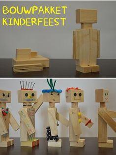 Supergaaf bouwpakket voor een kinderfeestje voor een jongen of een meisje! | Maak je eigen houten robot | Idee van VanStoerHout
