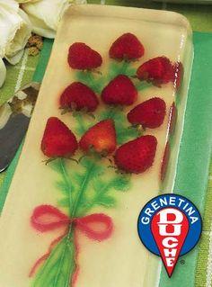 Strawberry Bouquet Gelatin Cake