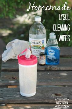 One very popular cleaning item these days is the Lysol Disinfecting Wipes. Find out how you can make your own Homemade Lysol Cleaning Wipes and save some money in the process.